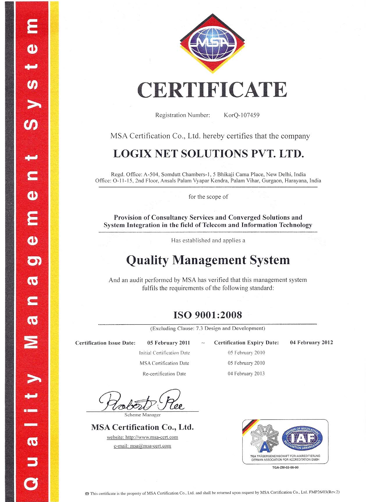 Logix net solution business network nationwide business networking iso certificate xflitez Choice Image